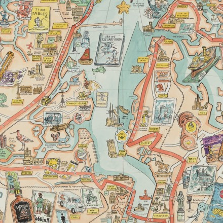 Thames Estuary Trail: an illustrated map